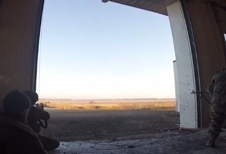обстрел, аэропорт, донецк, ато, гиви, сомали