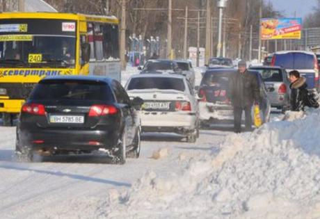 Одесса, Украина, непогода, въезд перекрыт