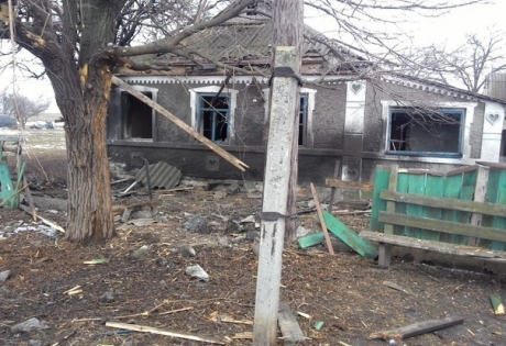 макеевка, поселок, разрушения, восток украины, ато