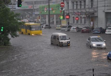 украина, днепропетровск, ливень, общество, дождь, погодные условия