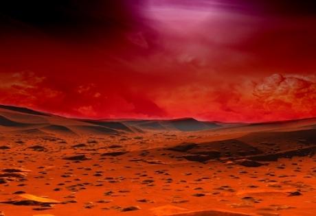 марс, комета, дым, атмосфера