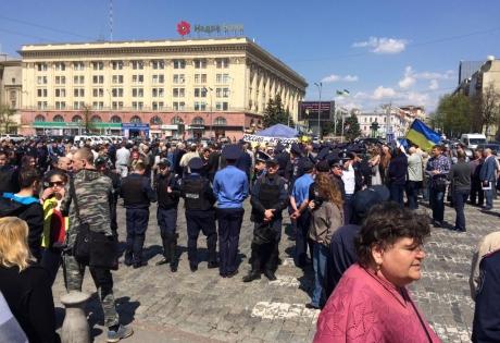харьков, происшествия, восток украины, кпу, митинг