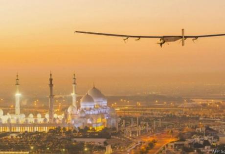 самолет, абу-даби, топливо, солнечные батареи,  Бертран Пикар