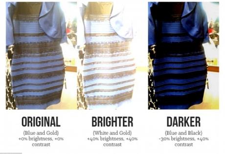 Секрет сине-чёрного платье