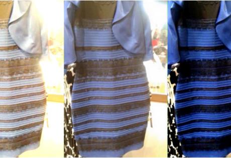 какого цвета платье, черно-синее, бело-золотое, общество