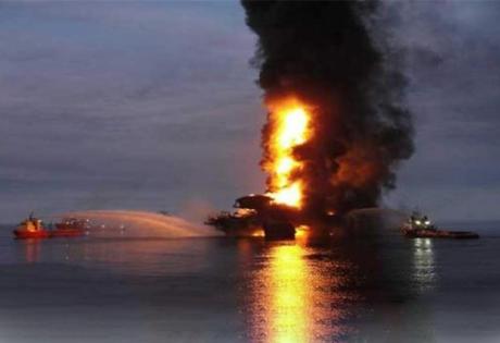 мексика, нефтяная платформа, взрыв, месторождение