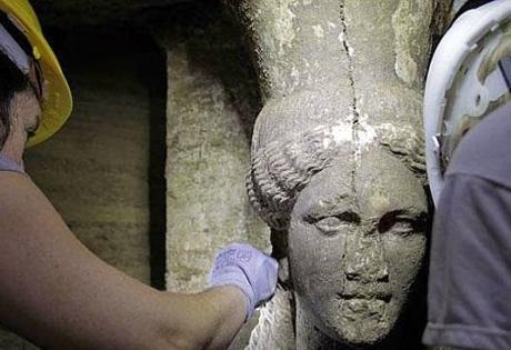 греция, раскопки, гробница в Амфиполисе, наука, история, александр македонский