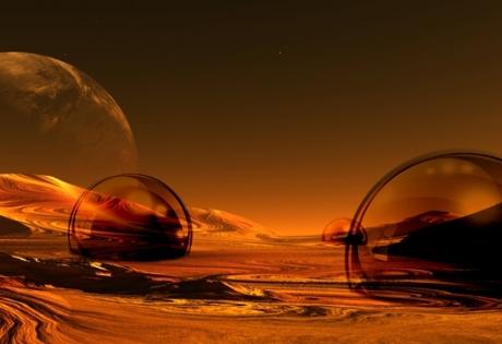 марс, купола, уфологи, фото