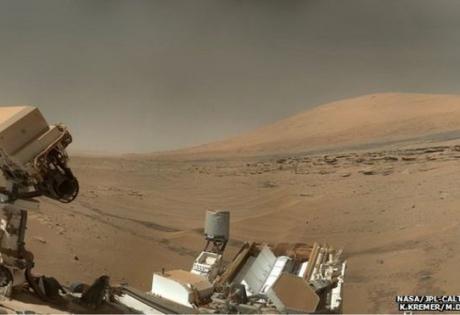 марс, марсоход, Кьюриосити, шарп, гора, река, наса