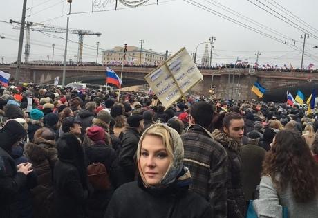 Россия, Москва, Немцов, траурный марш, общество, политика