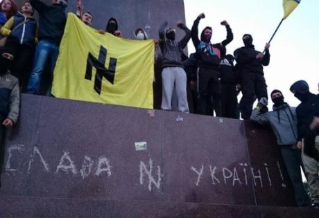харьков, происшествия, марш мира, новости украины, общество, памятник ленину, батальон азов, правый сектор