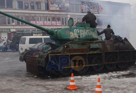 танк, лнр, вооружение, техника, антрацит