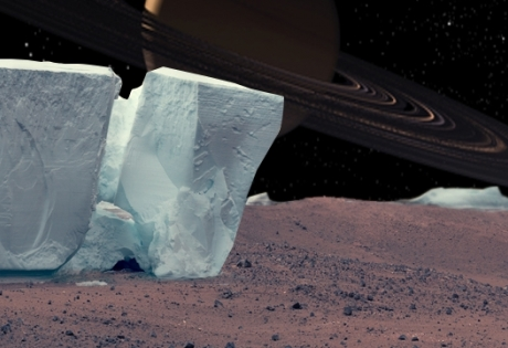 марс, вода, лед, скалы, наса