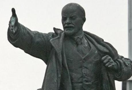 Памятник, Ленин, снесли, демонтаж, флаг Украины