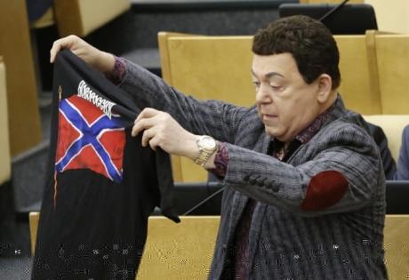 Кобзон, футболки, депутаты, госдума, вежливые люди, Новороссия, надеть