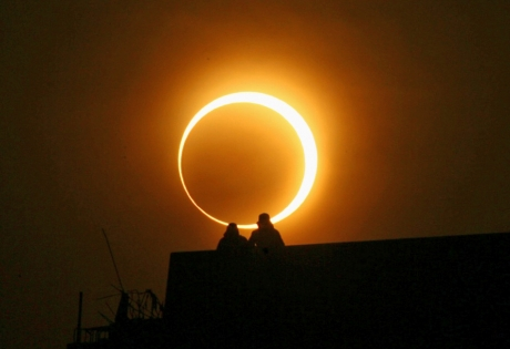 Космос, затмение, солнце, наука, техника, общество