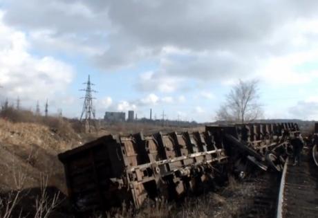 макеевка, поезд, донбасс, уголь, крушение