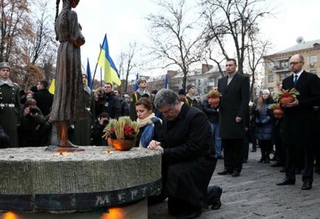 порошенко, голодомор, мероприятия, минута молчания
