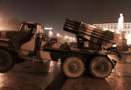 В Киев завезли российскую военную технику