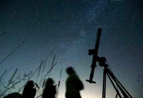 комета, световое шоу, вселенная, зеленая комета