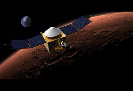 Аппарат MAVEN погрузился в верхний слой атмосферы Марса