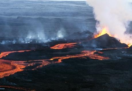 исландия, вулкан, озеро, извержение, толчки