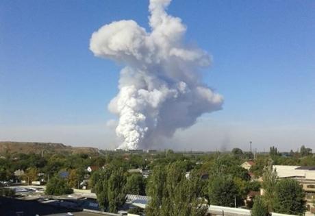 Донецк, взрыв, химические изделия, пожар
