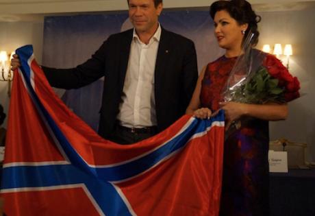Царев, Нетребко, помощь, флаг, вручение, слова, опровержение, Новороссия