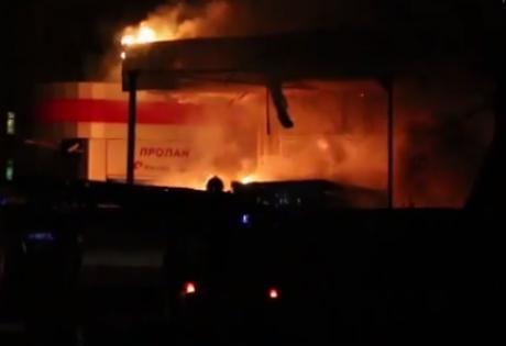 славянск, взрыв, пожар, происшествия, восток украины, донбасс, заправка
